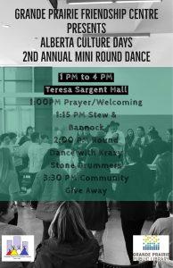 Alberta Culture Days 2nd Annual Mini Round Dance @ Teresa Sargent Hall