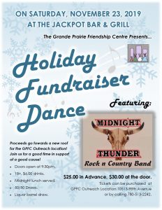 GPFC Holiday Fundraiser Dance! @ Jackpot Bar & Grill